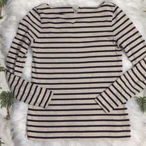 J crew pullover long sleeves and stripe